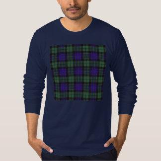 Mackayの一族の格子縞のスコットランド人のタータンチェック Tシャツ