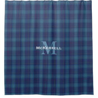 MacKerrellの一族のタータンチェック格子縞のシャワー・カーテン シャワーカーテン