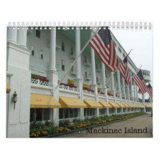 Mackinacの島のミシガン州のカレンダー カレンダー