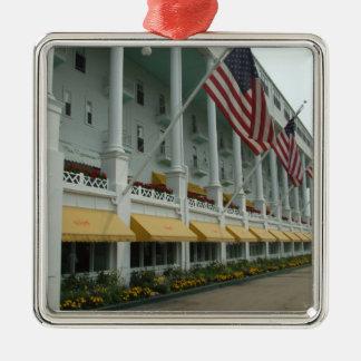 Mackinacの島の壮大なホテルのオーナメント メタルオーナメント