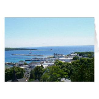 Mackinacの島を離れた眺め カード