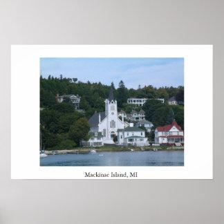 Mackinacの島MI ポスター