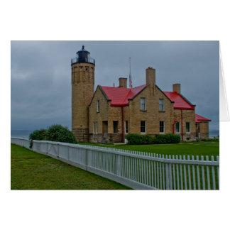 Mackinacの灯台 グリーティングカード