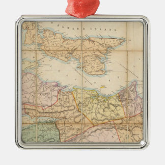 Mackinlayのノバスコシアの地域の地図 メタルオーナメント