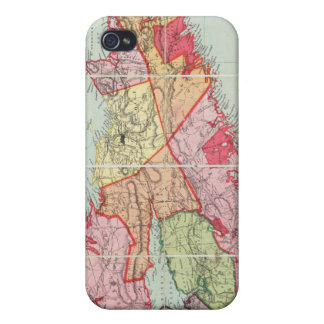 Mackinlayのノバスコシアの地域の地図 iPhone 4 カバー