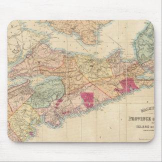 Mackinlayのノバスコシア3の地域の地図 マウスパッド