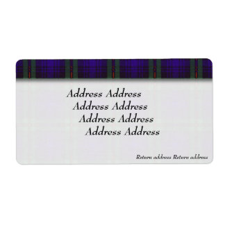 Mackinlayの一族の格子縞のスコットランド人のタータンチェック ラベル