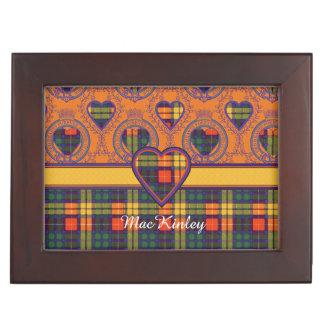 MacKinleyの一族の格子縞のスコットランドのキルトのタータンチェック ジュエリーボックス