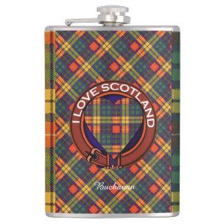 MacKinleyの一族の格子縞のスコットランドのキルトのタータンチェック フラスク
