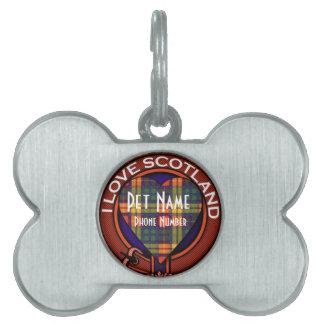 MacKinleyの一族の格子縞のスコットランドのキルトのタータンチェック ペットネームタグ