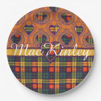 MacKinleyの一族の格子縞のスコットランドのキルトのタータンチェック ペーパープレート