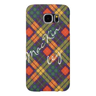 MacKinleyの一族の格子縞のスコットランドのキルトのタータンチェック Samsung Galaxy S6 ケース