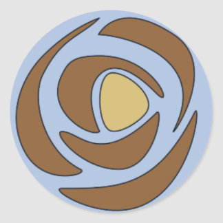 Mackinrosesの~の独身のなバラ ラウンドシール