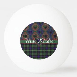 MacKirdieの一族の格子縞のスコットランドのキルトのタータンチェック 卓球ボール