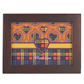 MacLeaの一族の格子縞のスコットランドのキルトのタータンチェック ジュエリーボックス