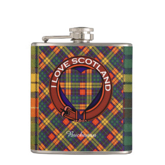 MacLeaの一族の格子縞のスコットランドのキルトのタータンチェック フラスク