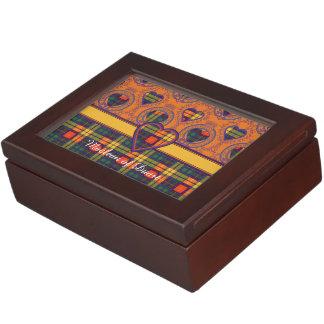 MacLeaの一族の格子縞のスコットランドのキルトのタータンチェック 宝箱