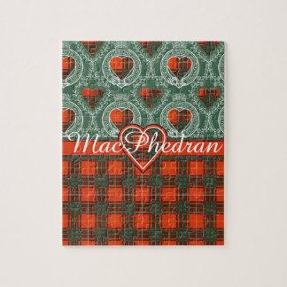 MacPhedranの一族の格子縞のスコットランドのキルトのタータンチェック ジグソーパズル