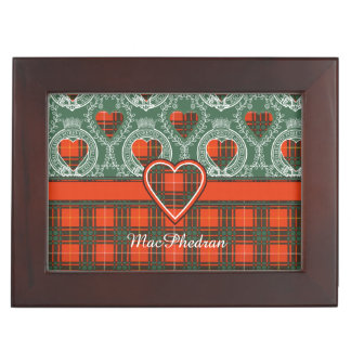 MacPhedranの一族の格子縞のスコットランドのキルトのタータンチェック 宝箱