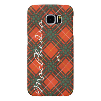 MacPhedranの一族の格子縞のスコットランドのキルトのタータンチェック Samsung Galaxy S6 ケース