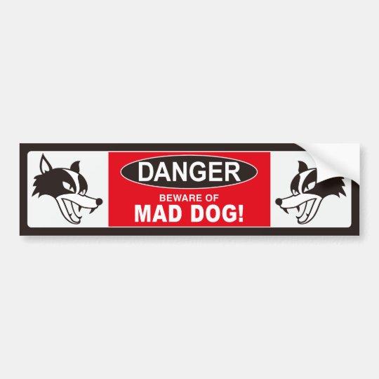 MAD DOG バンパーステッカー001ブラック バンパーステッカー