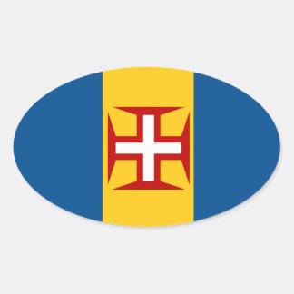 Madeira*の旗のヨーロッパ式の楕円形のステッカー 楕円形シール