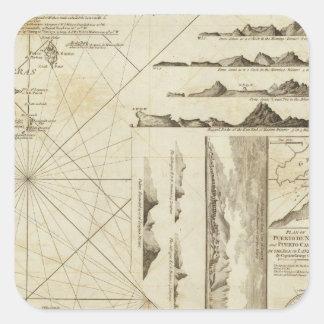 Maderasおよびカナリア諸島の図表 スクエアシール