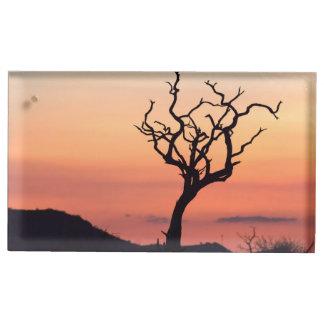 Madikwe上の日没 テーブルカードホルダー