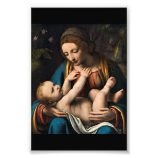 Madonna med  Kristusbarnet フォトプリント