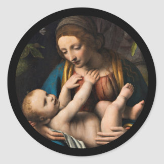 Madonna med  Kristusbarnet ラウンドシール