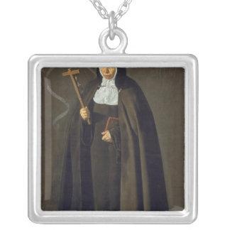 MadreマリアJeronima de la Fuente 1620年 シルバープレートネックレス