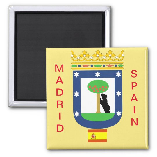 Madrid Coat of Arms Magnet マグネット