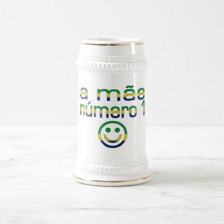 Mãe Número 1 -ブラジル人の第1お母さん ビールジョッキ