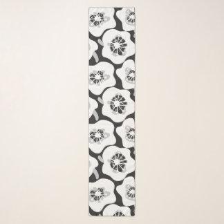 Maehwaの白い大活字のシフォンのスカーフ スカーフ