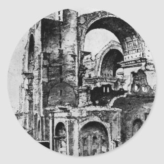 Maerten著建設中のセントピーターのバシリカ会堂 ラウンドシール