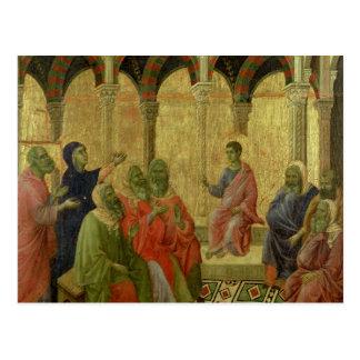 Maesta: 医者間のキリスト、1308-11年 ポストカード