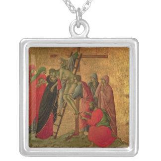 Maesta: 十字からの降下、1308-11年 シルバープレートネックレス