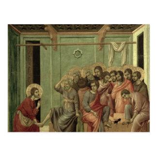 Maesta: 弟子の足を洗浄しているキリスト ポストカード