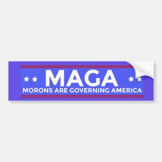 MAGA Morons are Governing America Political Conser バンパーステッカー