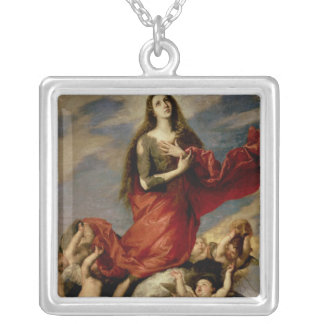 Magdalene 1636年聖母の被昇天 シルバープレートネックレス