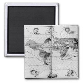 Magellanの世界の旅行をたどる世界地図 マグネット