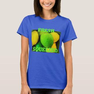 MaggHouzeの新しい絞られた柑橘類のTシャツ Tシャツ