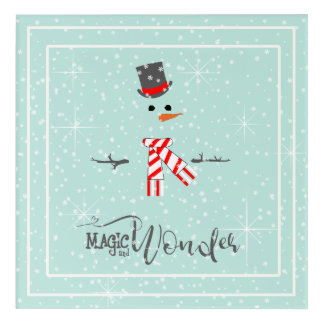 Magic and Wonder Christmas Snowman Mint ID440 アクリルウォールアート