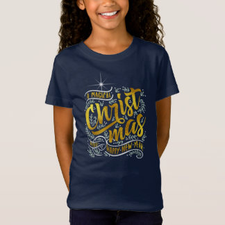 Magical Christmas Typography Gold ID441 Tシャツ