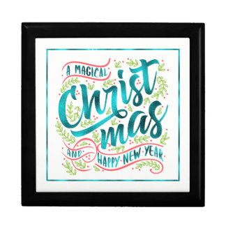 Magical Christmas Typography Teal ID441 ギフトボックス