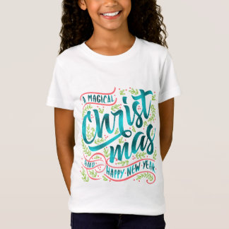 Magical Christmas Typography Teal ID441 Tシャツ