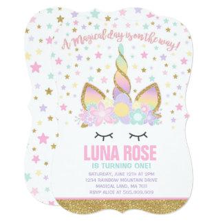 Magical Unicorn Birthday Invitation Unicorn Party カード