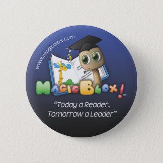 """MagicBlox 2""""青いボタン 5.7cm 丸型バッジ"""