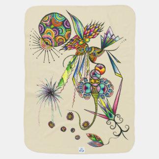 Magician - psychedelic illustration baby blanket ベビー ブランケット