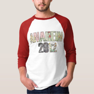MAGIRTアナハイム2012年の3/4の袖のRaglan Tシャツ